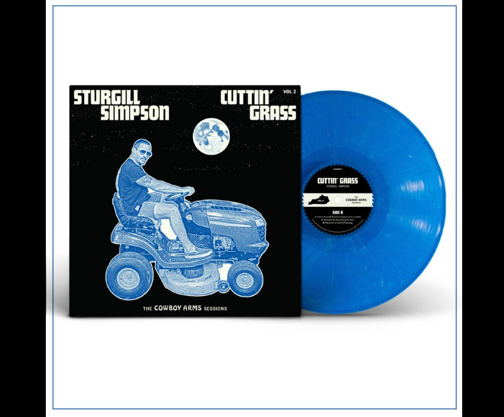 Sturgill Simpson - Cuttin' Grass - Vol. 2 (The Cowboy Arms Sessions) [Indie Exclusive Limited Edition Opaque Blue w/ White Swirl LP]