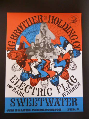 Poster (Reprint) - Big Brother, Electric Flagg & Sweetwater