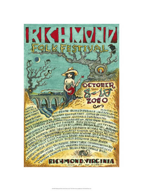 2010 Richmond Folk Festival L  imited Edition Gicleé Print