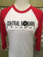 Central Square Records - CSR 3/4 SLEEVE BASEBALL TEE RED/WHITE