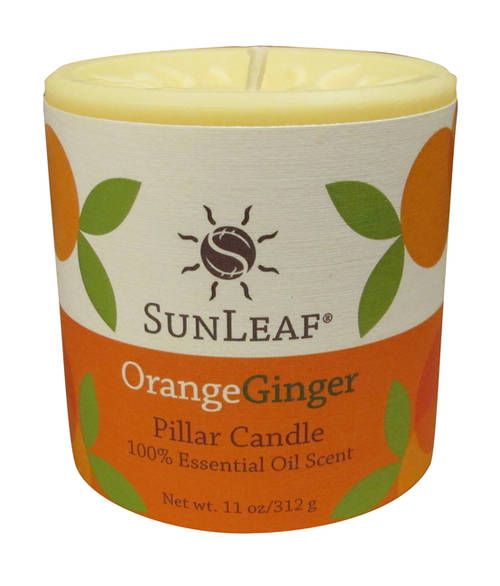 Orange Ginger 3x3 Pillar Candle