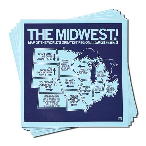 The Midwest Rivalry Map Sticker