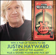 Signed Poster, Picks And Tickets To Justin Hayward At The Aladdin, 6/20