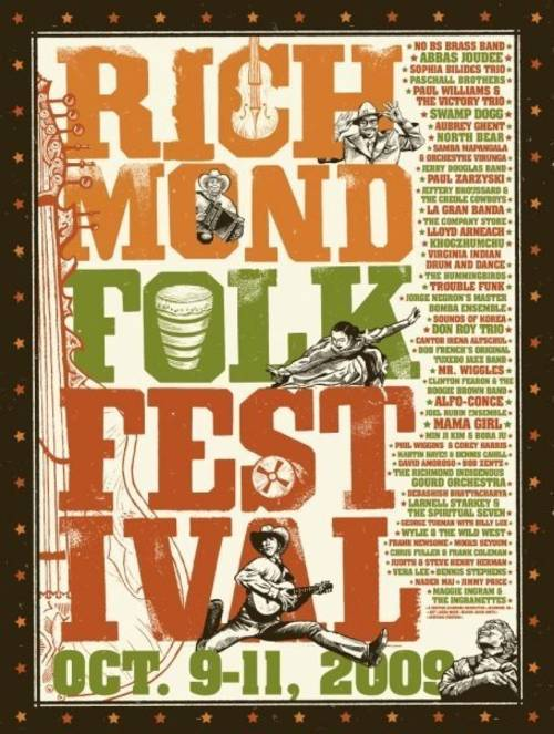 2009 Richmond Folk Festival Poster