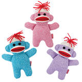 Toy - Schylling Baby Sock Monkey - Asst Colors
