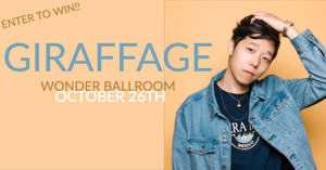 Giraffage at the Wonder Ballroom 10/26!