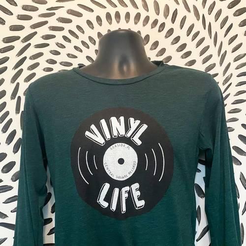 CSR Merch - Vinyl Life Long Sleeve Green