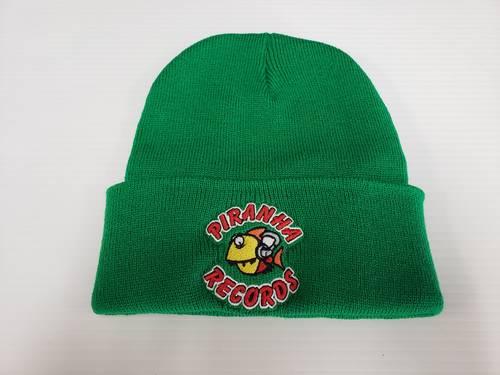 Piranha Records - Green Logo Beanie