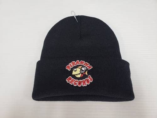 Piranha Records - Black Logo Beanie