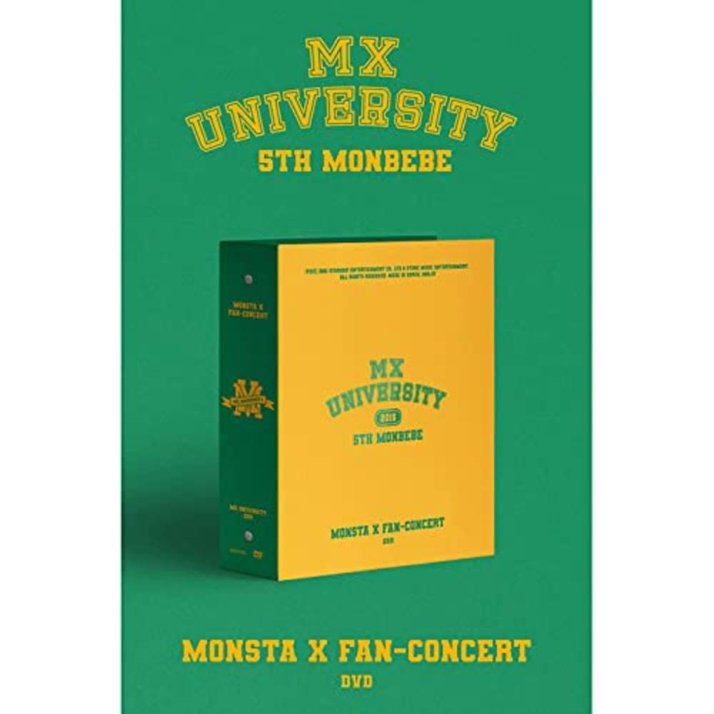Monsta X - Monsta X Fan-Concert (MX University) (NTSC/Region 0) (incl. 166pg Photobook, 2x Sticker, Envelope, 6x Bookmark Set, 6x Photocard