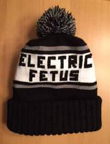 Electric Fetus Knit Hat - Black & White