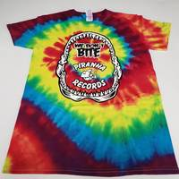 Piranha Records - Tie Dye We Don't Bite Logo Shirt [Large]
