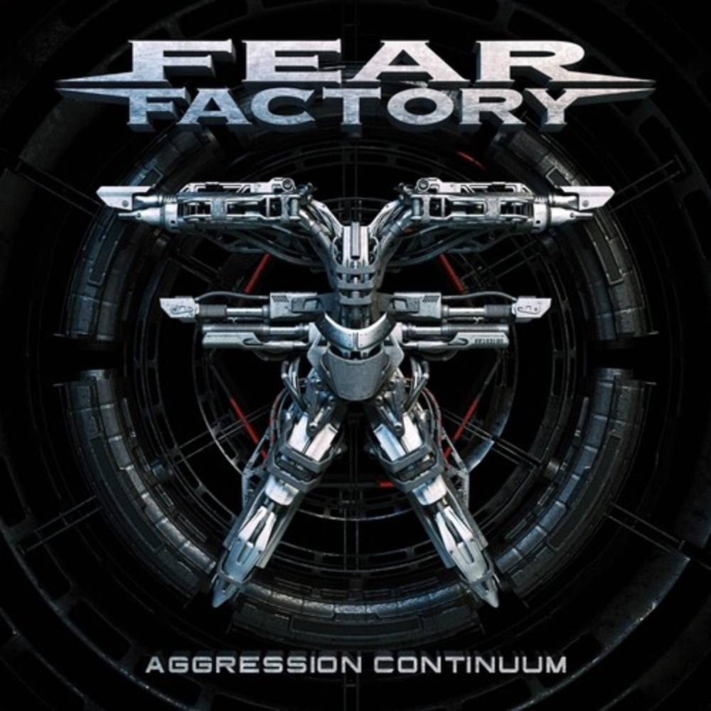 Fear Factory - Aggression Continuum [Grey & Light Blue Swirl w/ Black Splatter 2LP]