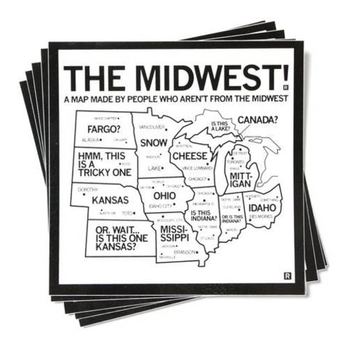 The Midwest Map Sticker