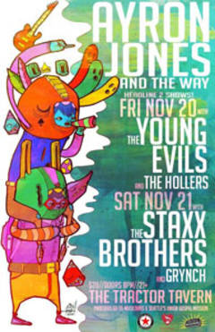 Enter To Win Tickets To Ayron Jones & The Way w/Staxx Brothers & Grynch!