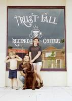 trust fall records and coffee
