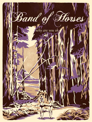 Band Of Horses - Free Lithograph NW