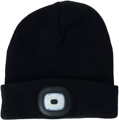 Hat - [BLACK] Rechargeable Led Beanie