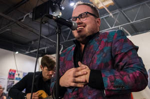 St Paul and the Broken Bones doing a SURPRISE! in-store performance at hometown Seasick Records in Birmingham AL photos by Josh Weichman