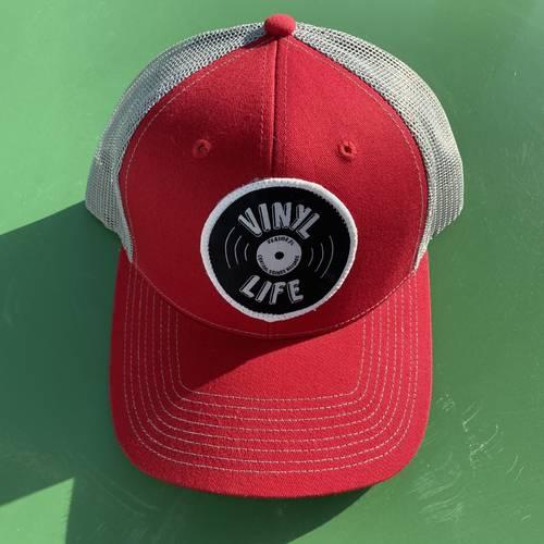 - VINYL LIFE TRUCKER HAT (RED)