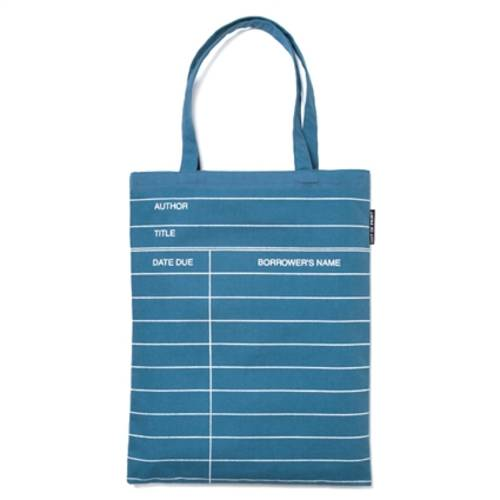 BLUE LIBRARY CARD (TOTE)