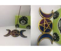 - Pentagram & Moon Incense Burner