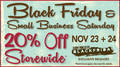Black Friday and Small Business Saturday Storewide Sale