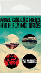 NOEL GALLAGHER'S HIGH FLYING BIRDS - Free Button Pack