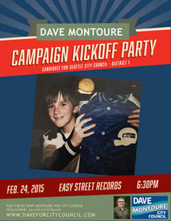 Dave Montoure City Council Campaign Kickoff Party Tuesday!