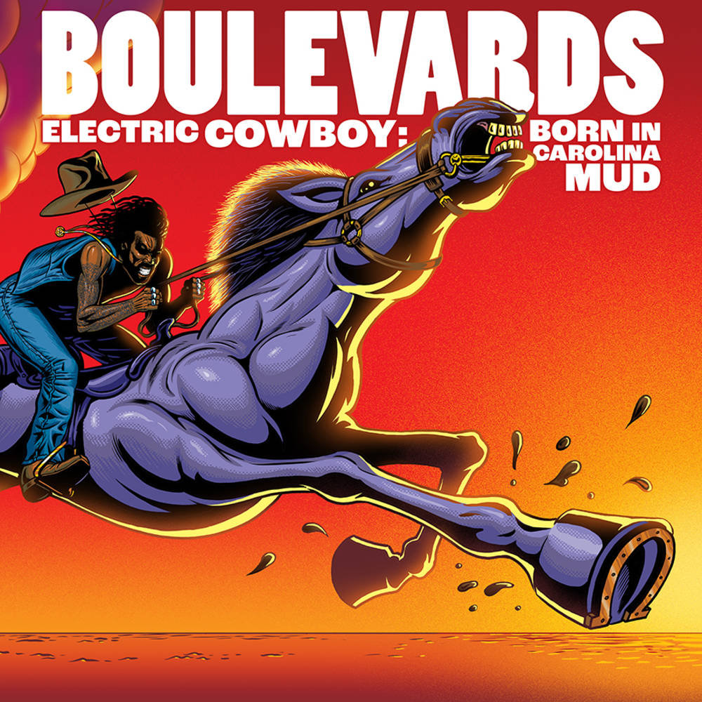 Boulevards - Electric Cowboy: Born In Carolina Mud [Indie Exclusive Limited Edition Red & Black Swirl LP]