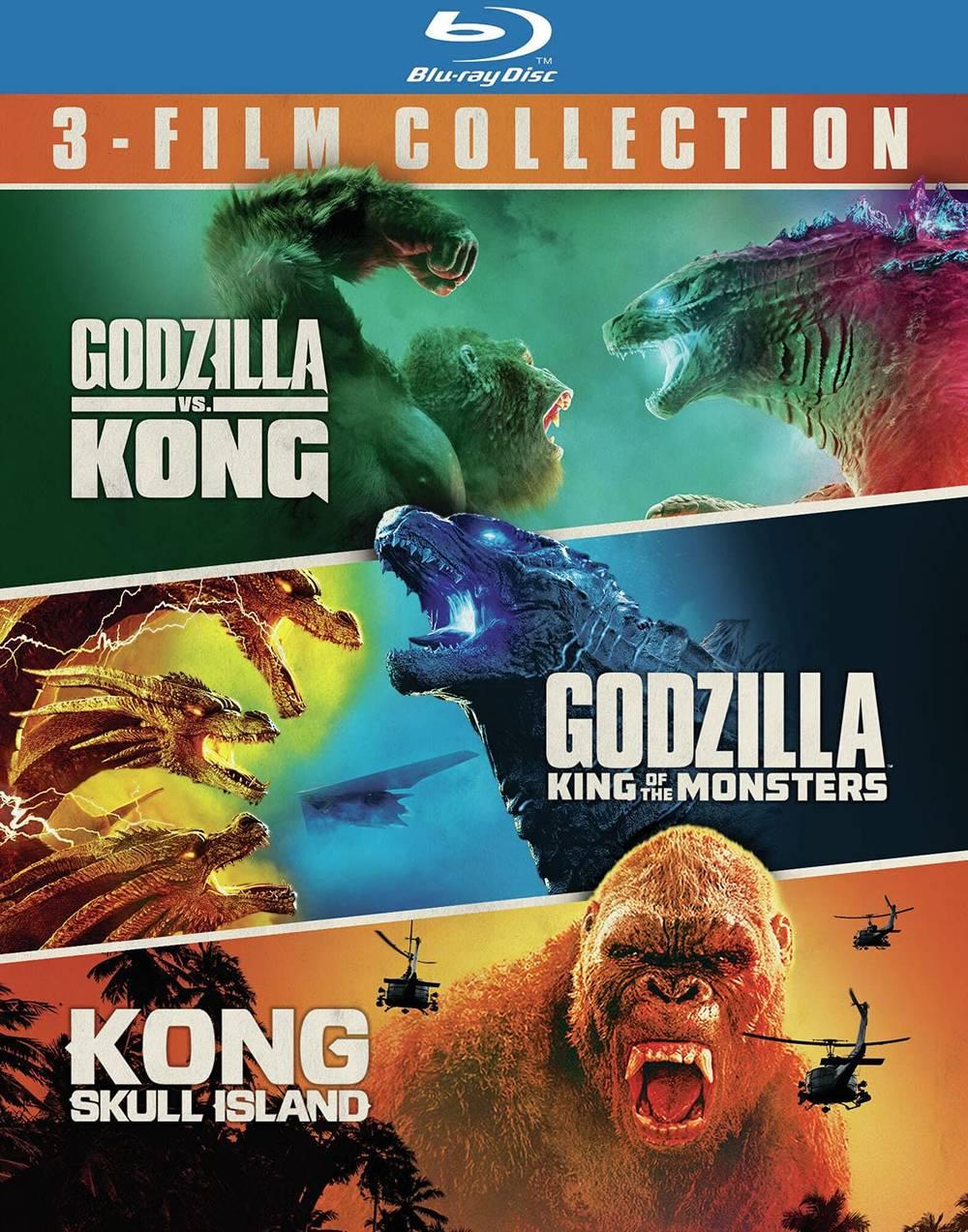 Godzilla [Movie] - Godzilla vs. Kong/Godzilla: King of the Monsters/Kong: Skull Island (3 Film Bundle)