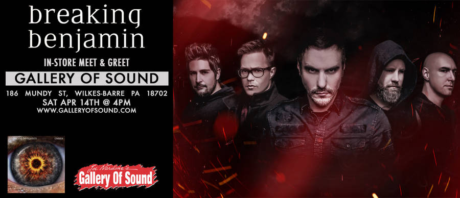 Event gallery of sound independent record store pa breaking benjamin meet greet m4hsunfo