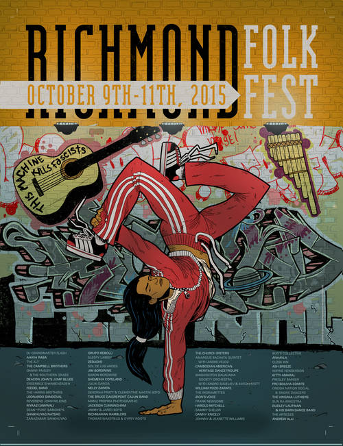 2015 Richmond Folk Festival Poster