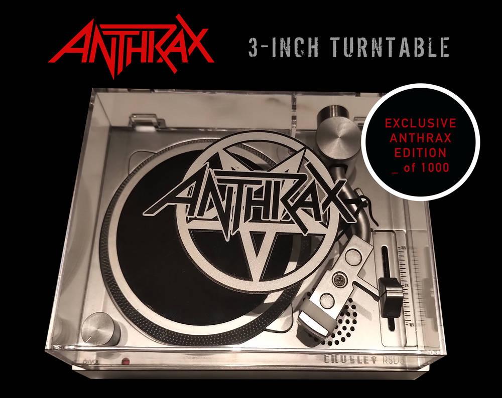 Anthrax - Anthrax Crosley 3in RSD Turntable [RSD 2021]