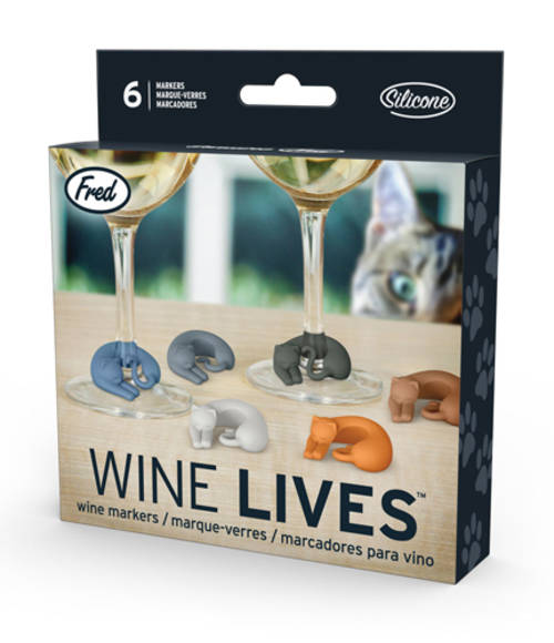 Fred Drink Markers-Wine Lives Cats