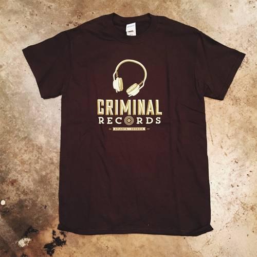 - CR Unisex Large T-Shirt - Brown Headphones