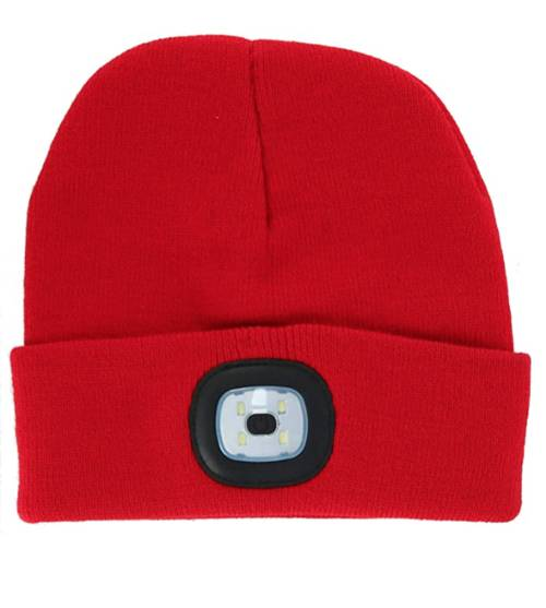Hat - [RED] Rechargeable Led Beanie