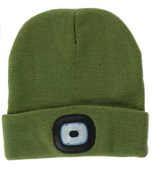 Hat - [OLIVE] Rechargeable Led Beanie