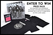 Ramones 40th Anniversary Deluxe Vinyl, Matching M&W's Ramones Tees, and 33 1/3 Book