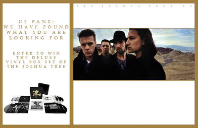 ENTER TO WIN THE DELUXE VINYL BOX SET OF THE JOSHUA TREE