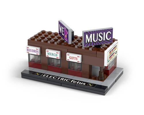 Novelty - 50th Storefront Brickmania LEGO® Kit | Electric Fetus