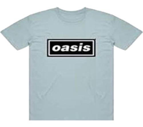 Oasis - Logo On Blue (M)