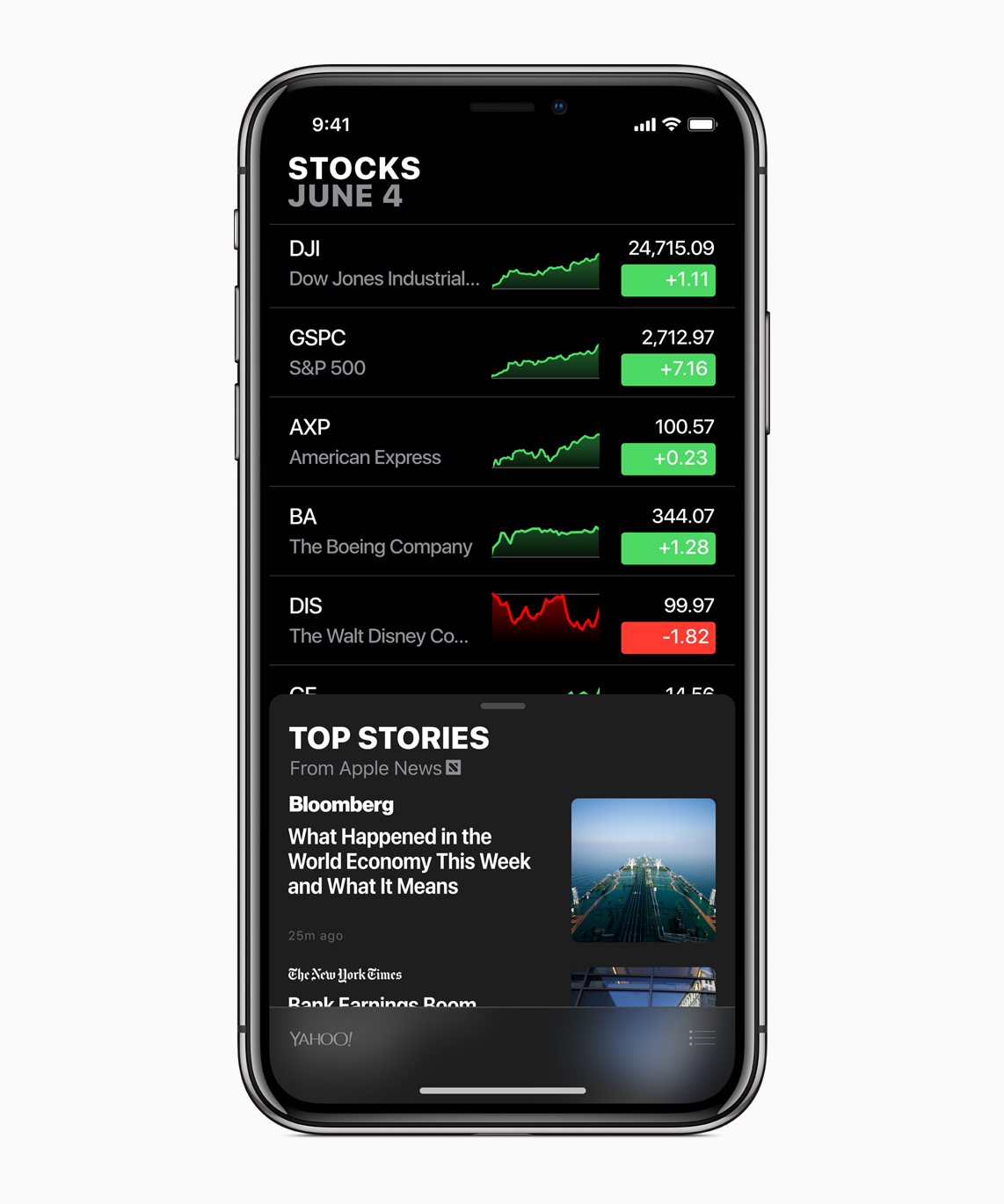 iOS 12 Apple Stocks Update