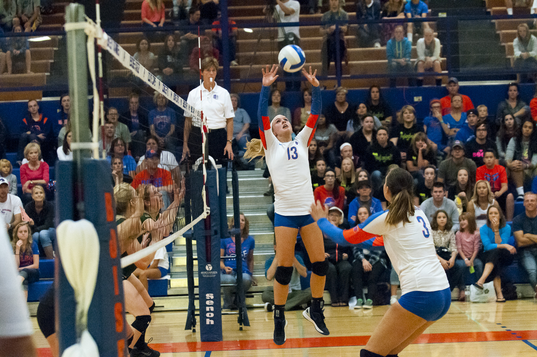 Sarah Baugh became 12th Bronco ever to reach 1,000 assists in a season.