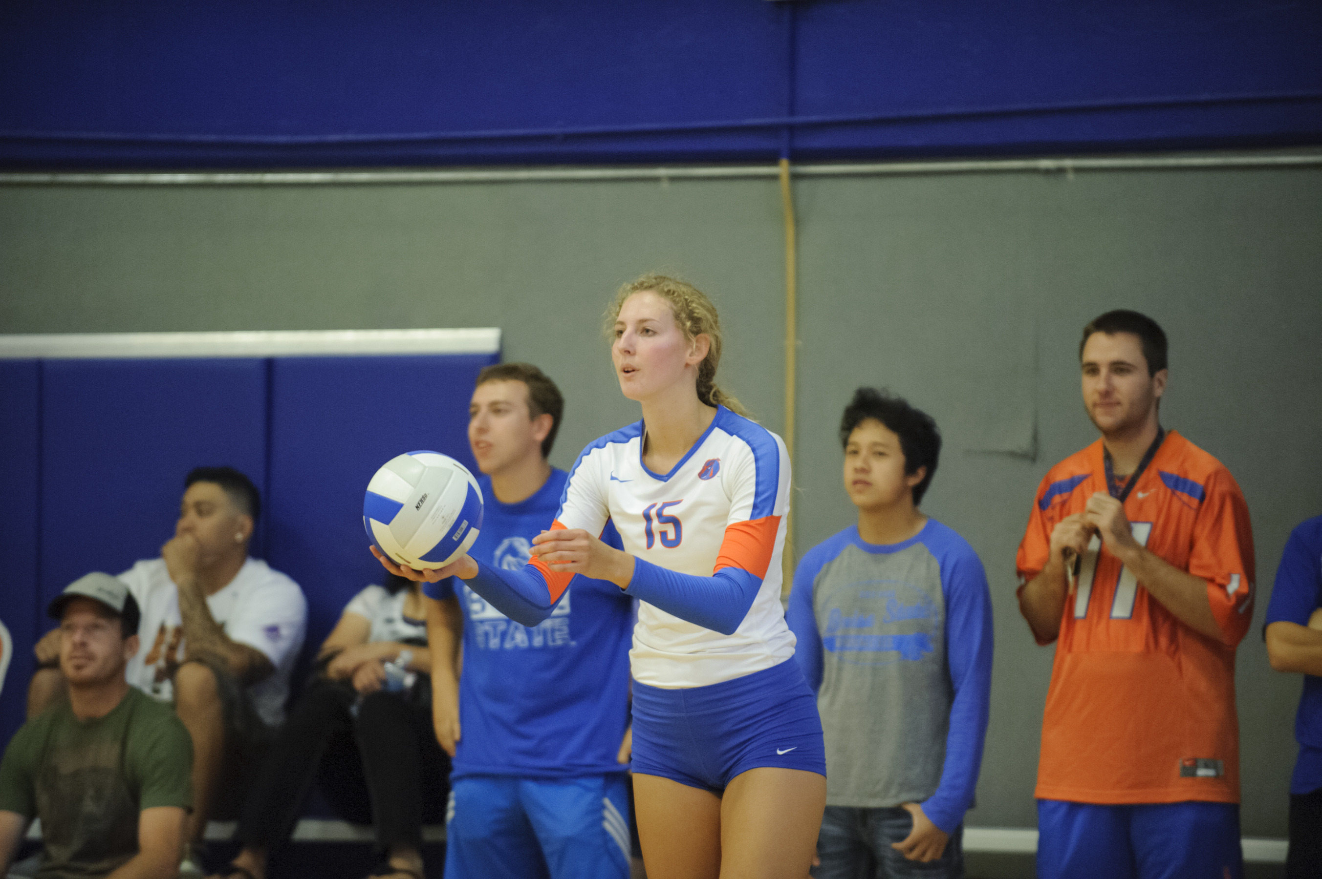 Sierra Nobley led team in kills for fifth time this season.