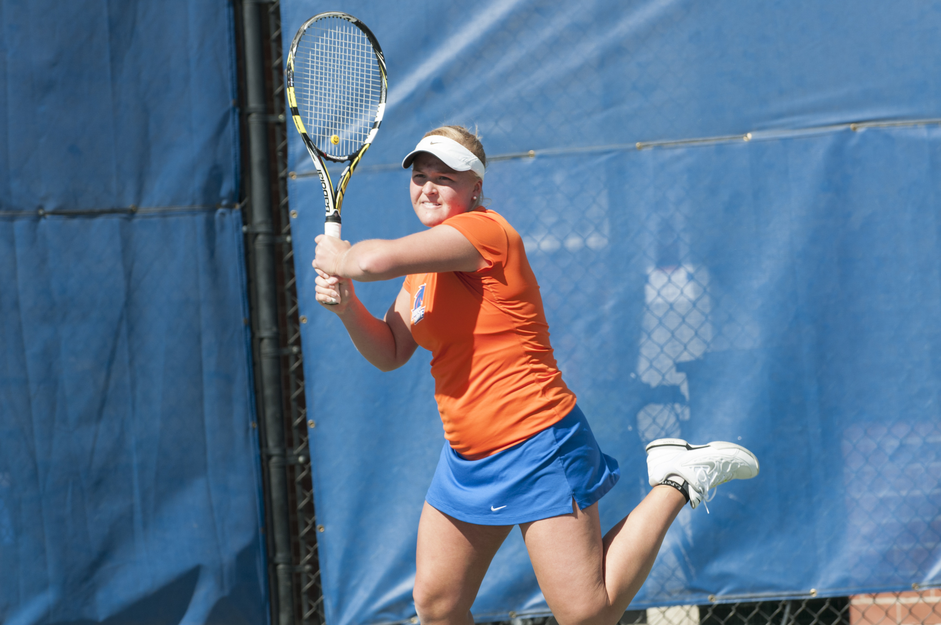 Megan LaLone split on court three with nation's 50th-ranked player.