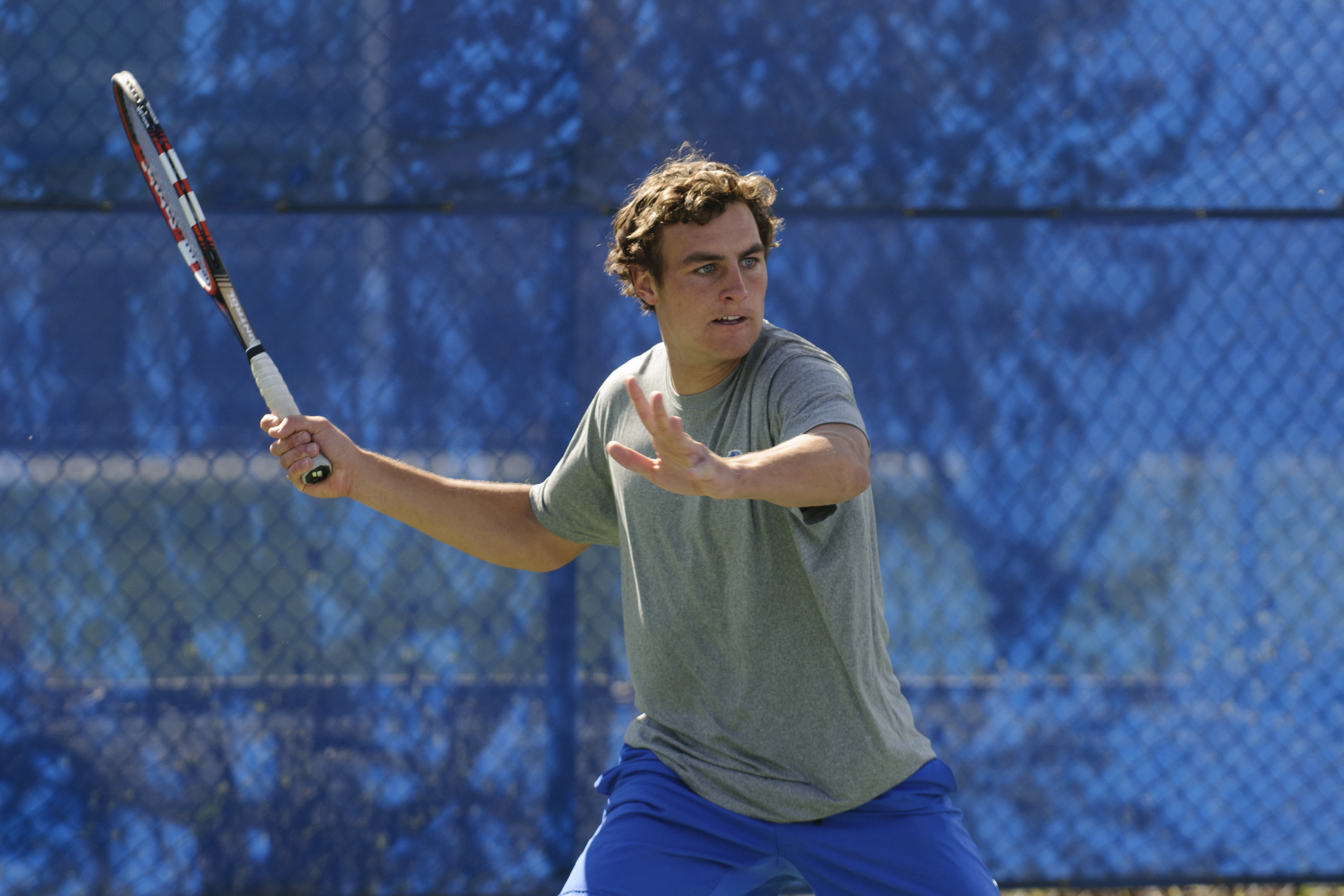 Garrett Patton has won seven consecutive matches in singles.