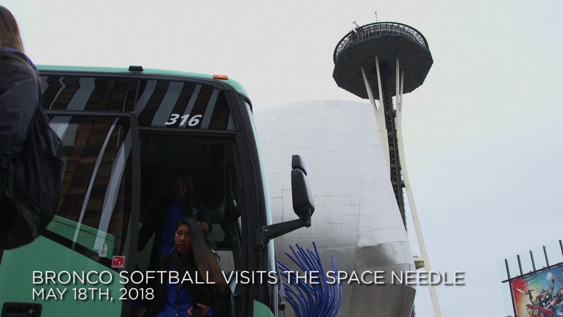 Broncos Take the Space Needle