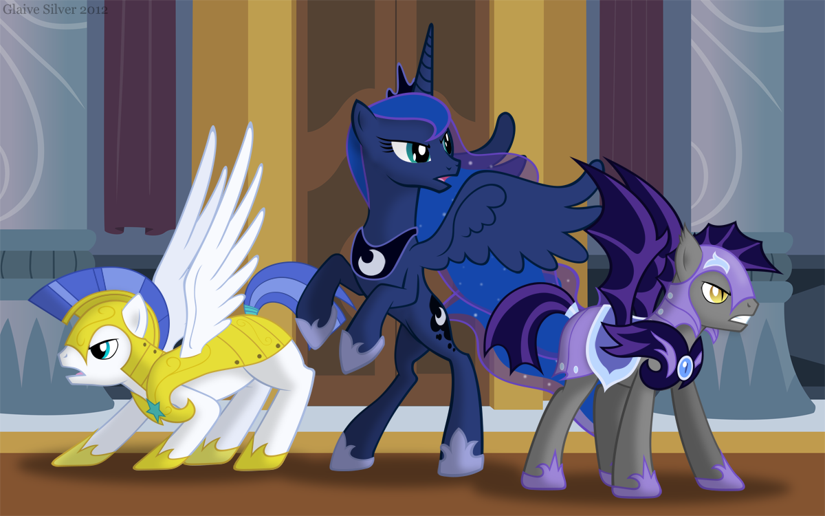 Guard Pony Night Guard And Princess Luna Drawn By Glaive