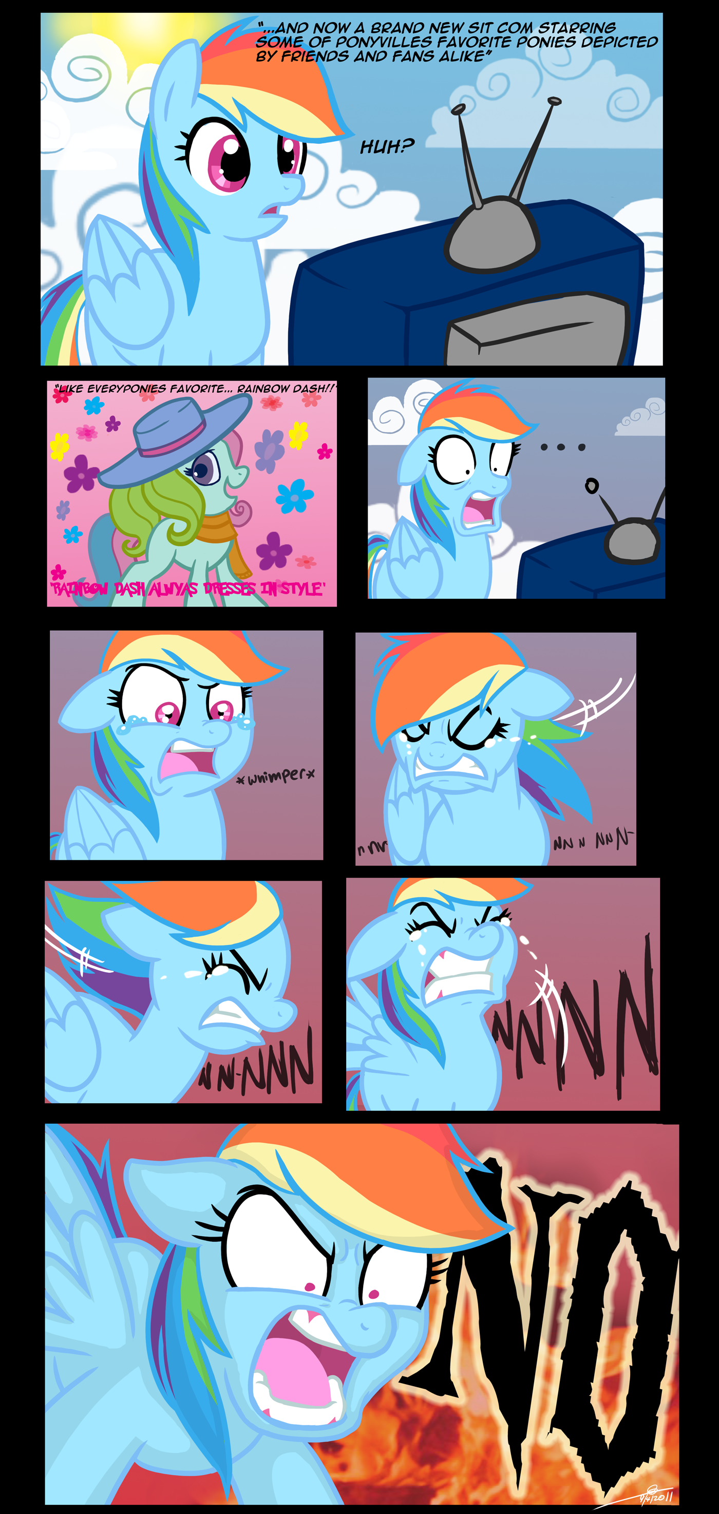 rainbow dash and rainbow dash (g3) drawn by thex-plotion ...
